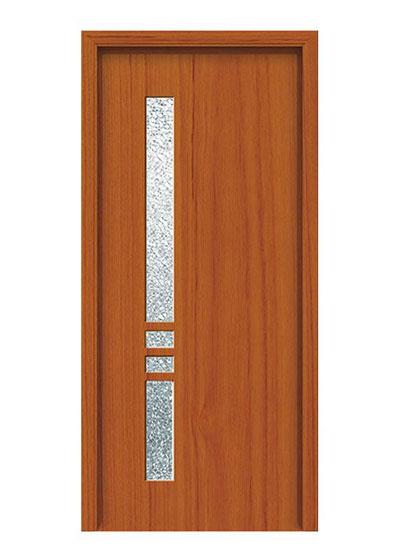 简约实木玻璃套装门