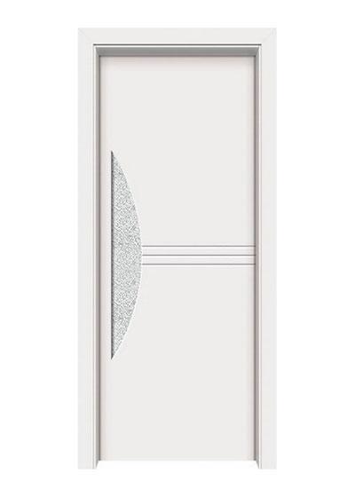 简约实木玻璃门