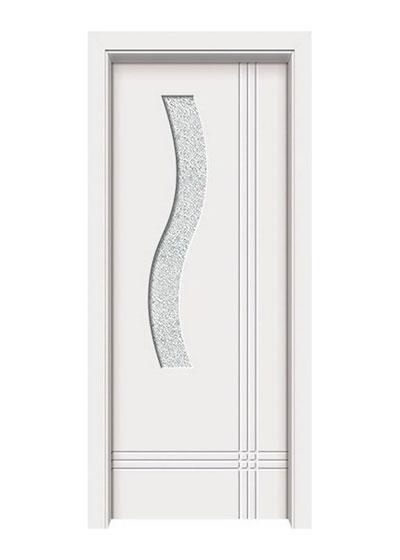 简约时尚烤漆实木套装玻璃门