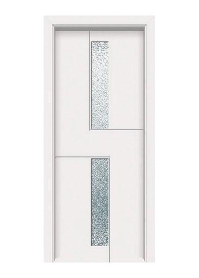 白色烤漆实木玻璃门