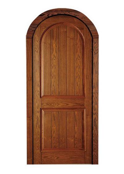 圆拱形实木门