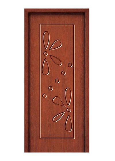 雕花纯实木套装门