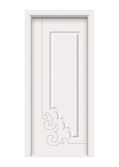 中式时尚雕花免漆实木门
