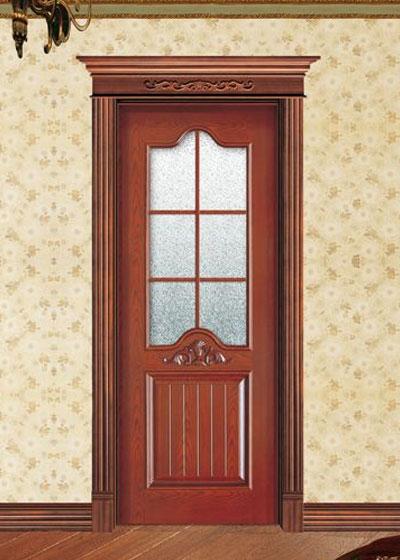 烤漆实木玻璃套装门