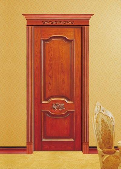 雕花实木隔音套装门