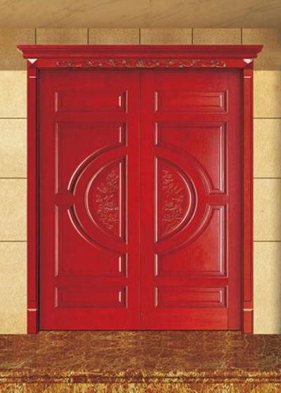 中式实木套装对开门