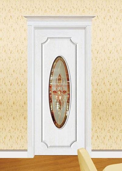 烤漆实木玻璃门
