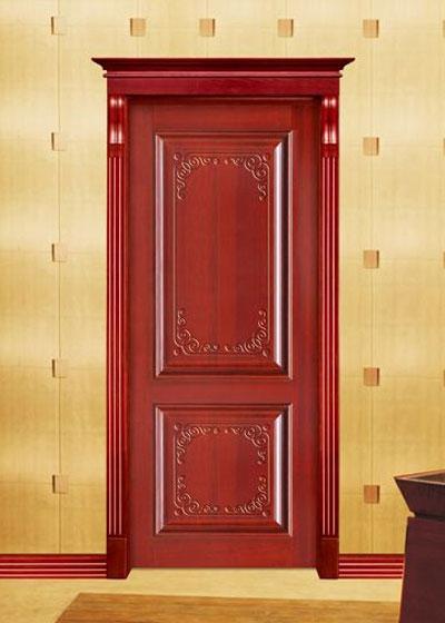 美式室内卧室烤漆实木门