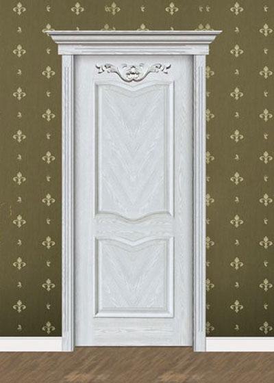 白色烤漆实木套装门