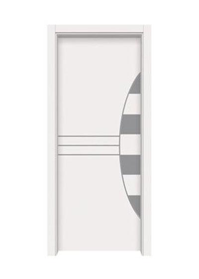 白色时尚卧室实木门