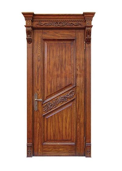 烤漆原木雕花室内套装实木门
