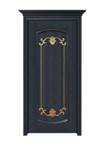 美式实木雕花烤漆复合卧室门