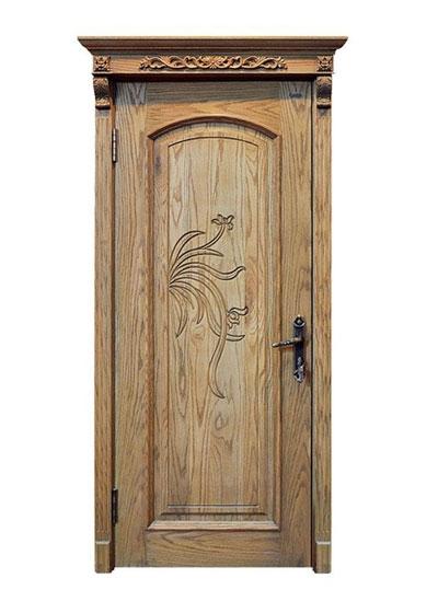 欧式免漆雕花实木门
