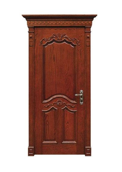 欧美雕花套装实木门