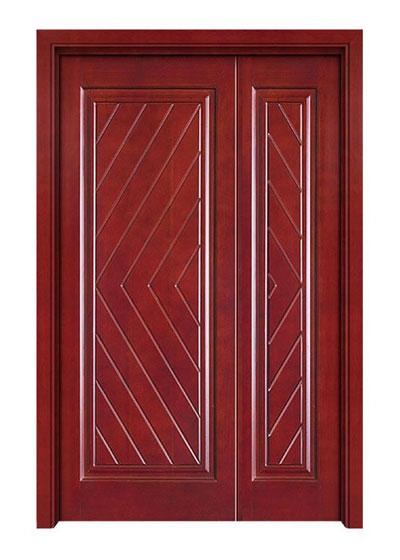 烤漆原木子母房间门