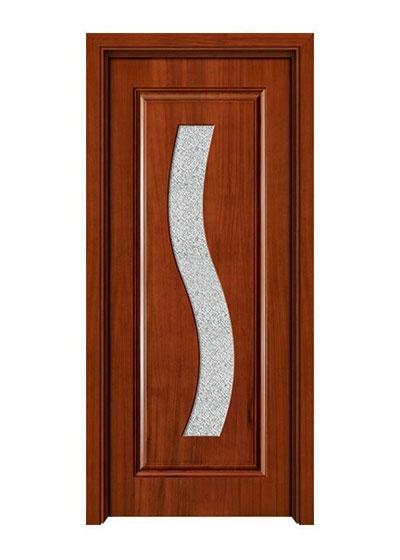 室内实木玻璃门