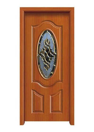 欧美实木雕花玻璃门