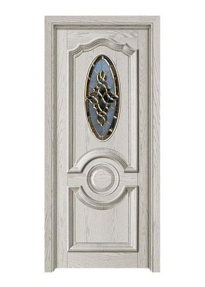 室内静音油漆实木玻璃门