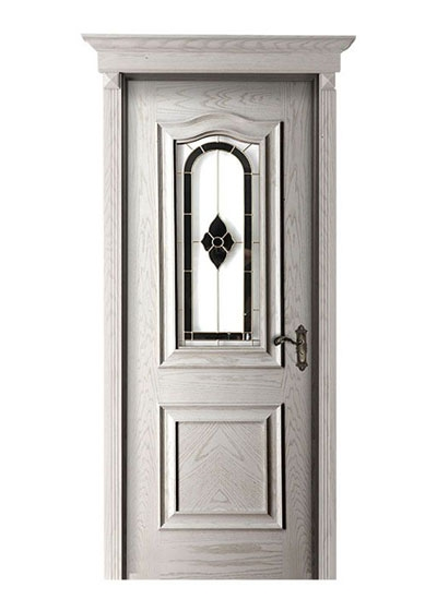 室内免漆隔音实木玻璃门