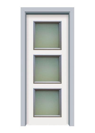 时尚烤漆实木复合玻璃门