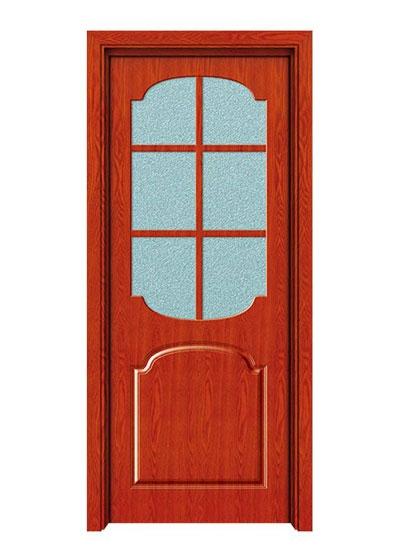 厨卫简约实木玻璃门