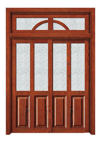 简约时尚实木烤漆玻璃门
