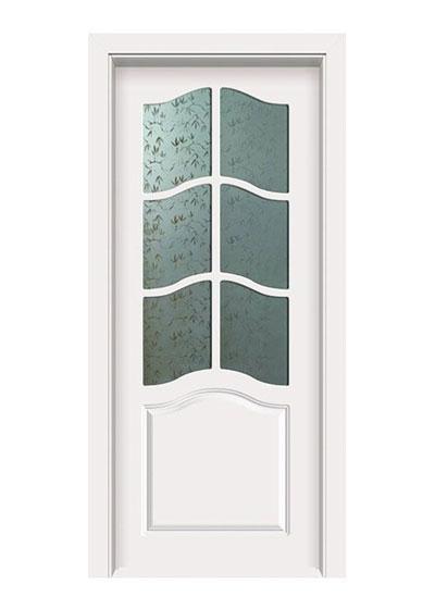 室内烤漆实木玻璃门