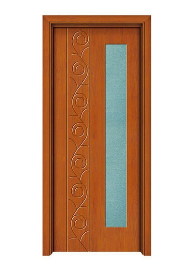 室内雕花实木玻璃门
