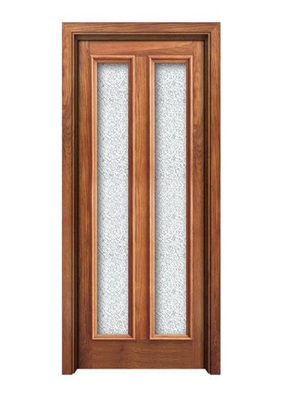 室内免漆实木玻璃门