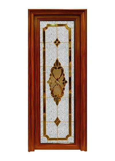 重庆厨卫实木拼花玻璃门