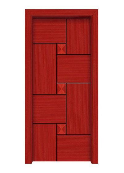 简约室内原木套装门
