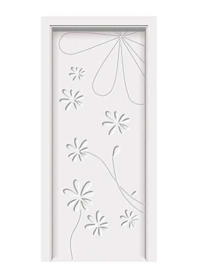 田园卧室免漆套装门